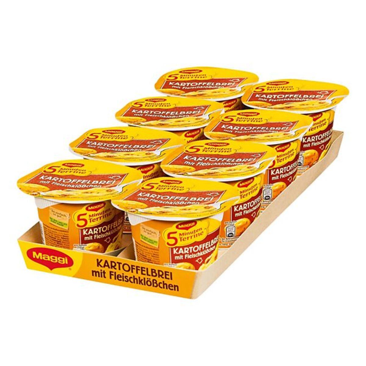Bild 1 von Maggi 5 Minuten Terrine Kartoffelbrei mit Fleischklößchen 46 g, 8er Pack