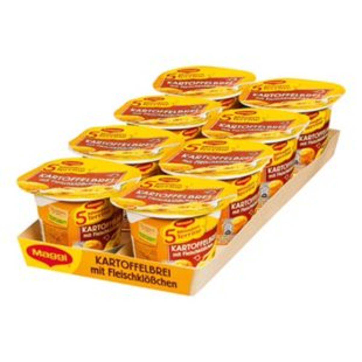 Bild 2 von Maggi 5 Minuten Terrine Kartoffelbrei mit Fleischklößchen 46 g, 8er Pack