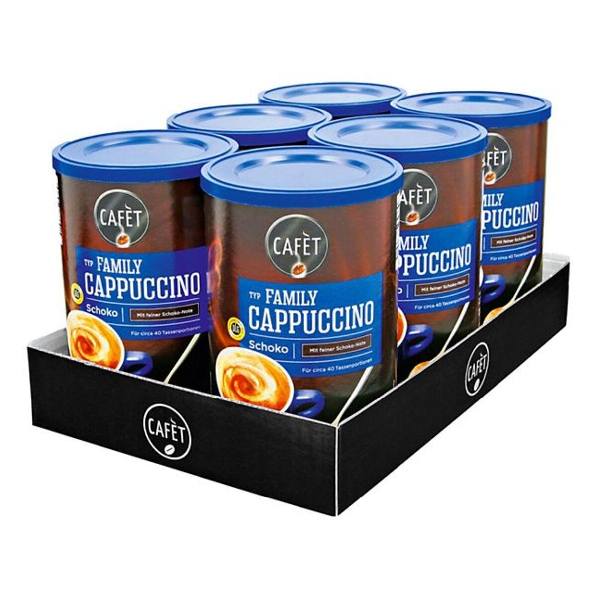 Bild 1 von Cafet Cappuccino Schoko 500 g, 6er Pack