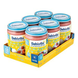 Bebivita Frucht & Joghurt Erdbeere in Apfel 190 g, 6er Pack