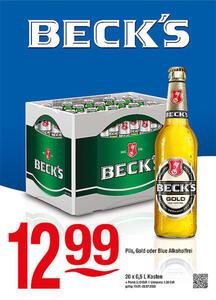 Beck's Pils, Gold oder Blue Alkoholfrei