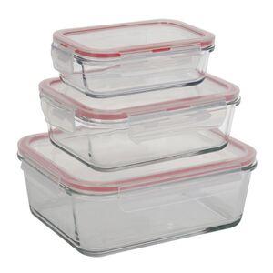 Glas-Frischhaltedosen mit Deckel Eckig 3er-Set