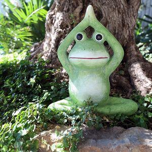 Dekofigur Yoga-Frosch 51cm