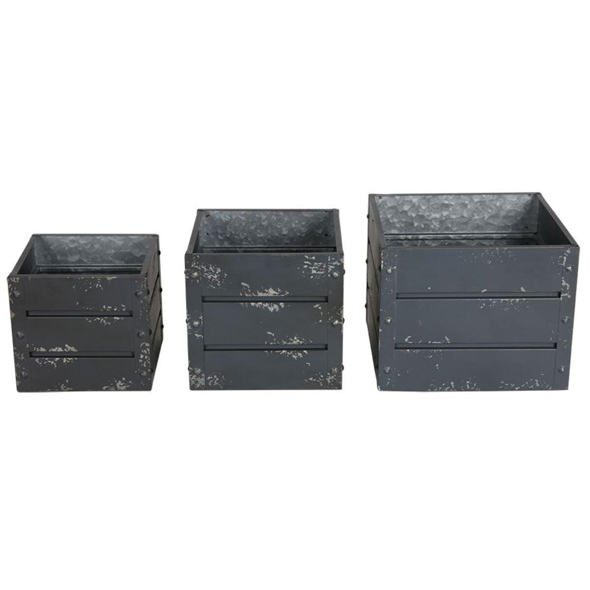 Bild 3 von Zink-Übertöpfe Container-Design Anthrazit 3er-Set