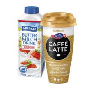 Emmi Caffè Latte, Choco Latte oder Milram Frucht Buttermilch