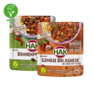 HAK Gemüse- Fertiggerichte