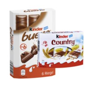 Hanuta 10er, Kinder Country 9er, Kinder Bueno 6er oder Duplo Chocnut 5er