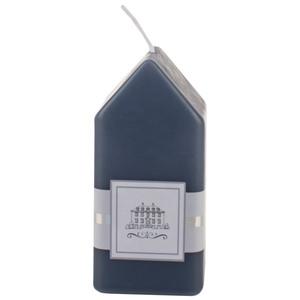 Kerze Haus (12x5,5, dunkelblau)