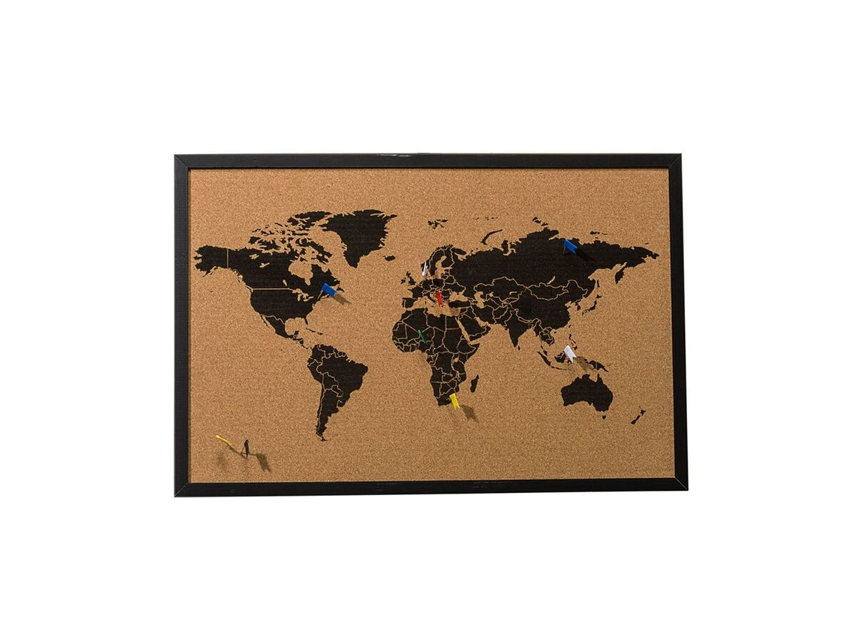 Bild 1 von Pureday Pinnwand Weltkarte - Mit 6 Markierfähnchen