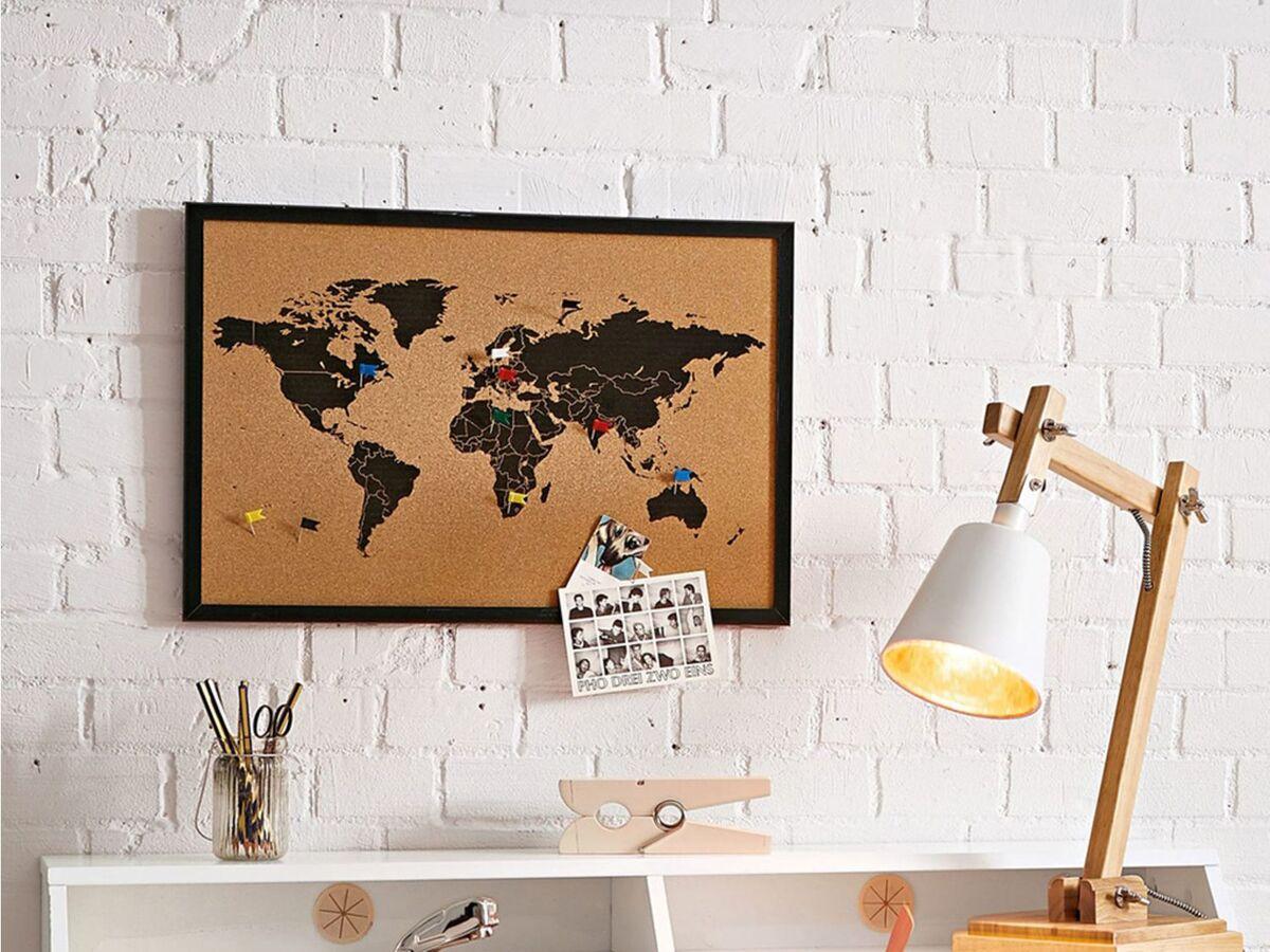 Bild 2 von Pureday Pinnwand Weltkarte - Mit 6 Markierfähnchen