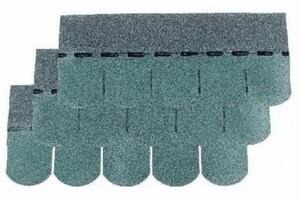 Easy Biber-Dachschindeln grün, 80 x 33,6 cm