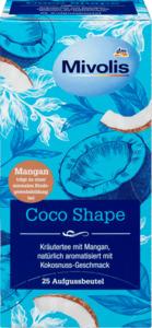 Mivolis Coco Shape Tee mit Mangan & Kokosnuss-Geschmack, 25 Filterbeutel