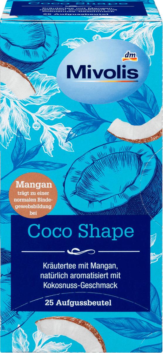 Bild 1 von Mivolis Coco Shape Tee mit Mangan & Kokosnuss-Geschmack, 25 Filterbeutel