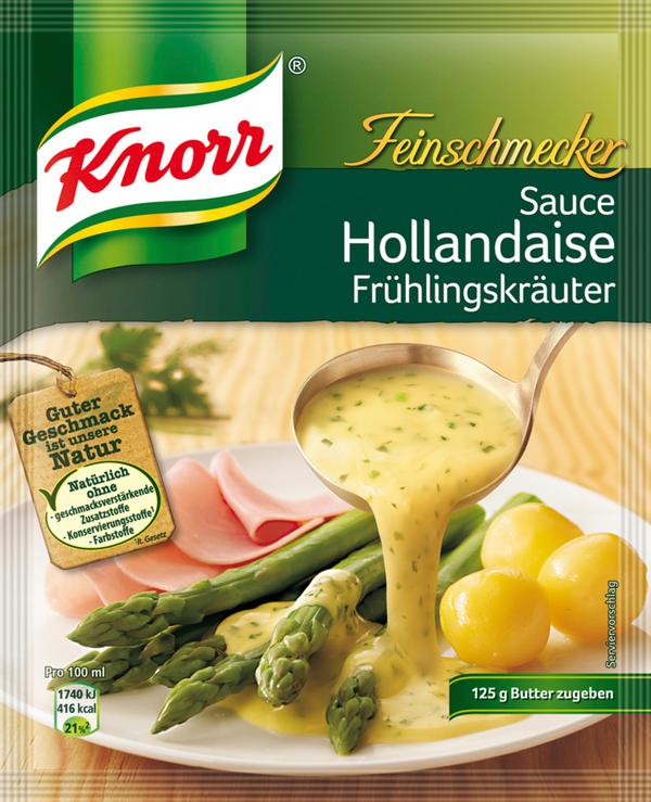 Knorr Feinschmecker Sauce Hollandaise mit Frühlingskräutern 28 g