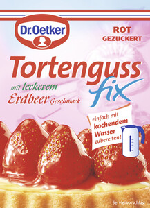 Dr.Oetker Tortenguss Fix mit leckerem Erdbeer-Geschmack 50 g