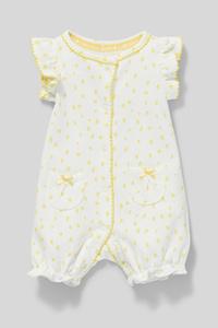 C&A Baby-Schlafanzug-Bio-Baumwolle, Weiß, Größe: 68