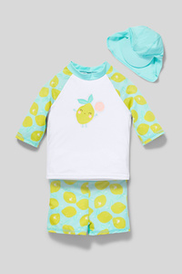 C&A Baby-Bade-Outfit-3 teilig, Grün, Größe: 98