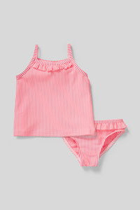 C&A Baby-Tankini-2 teilig-gestreift, Pink, Größe: 92