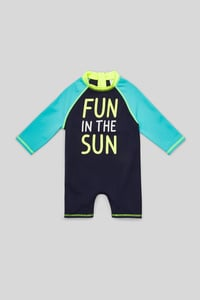 C&A Baby-Badeanzug, Blau, Größe: 110