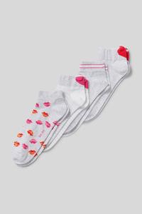 C&A Sneakersocken-Bio-Baumwolle-4 Paar, Weiß, Größe: 39-42