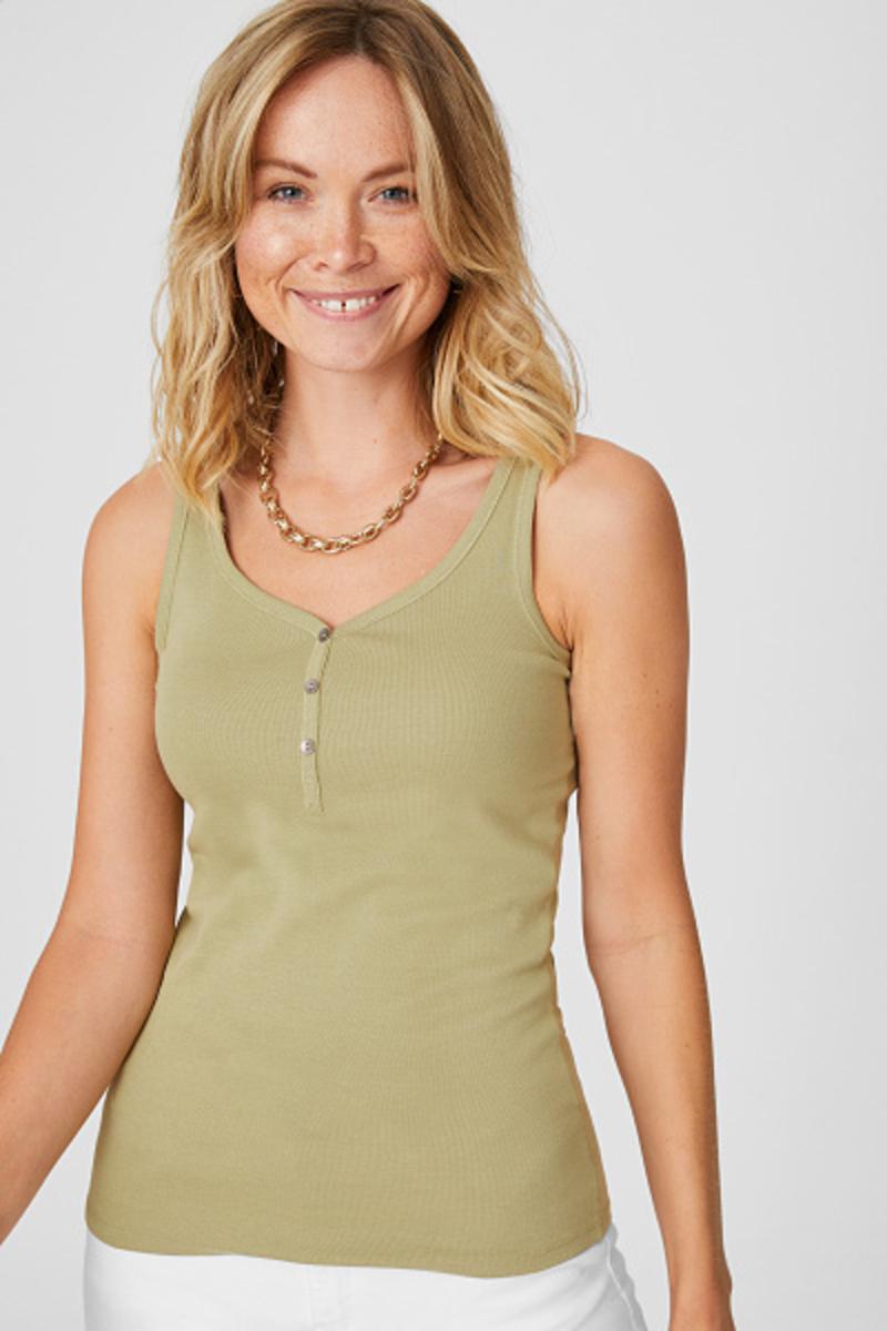 Bild 2 von C&A Basic-Top-Bio-Baumwolle, Grün, Größe: XL