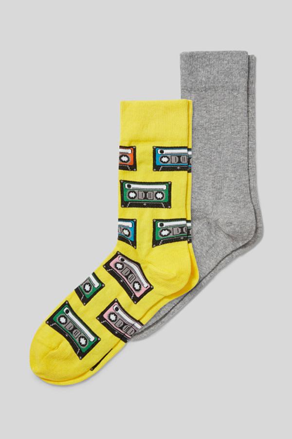 C&A Socken-2 Paar, Gelb, Größe: 43-46 von C&A ansehen!