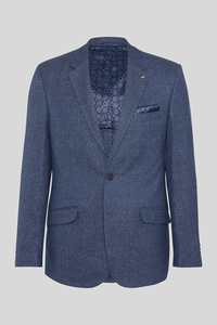 C&A Business-Sakko-Regular Fit-Leinen-Mix, Blau, Größe: 60