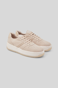 C&A LOVE OUR PLANET-Sneaker-Lederimitat-recycelt, Braun, Größe: 38