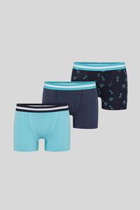 C&A Trunks-Bio-Baumwolle-3er Pack, Blau, Größe: XXL