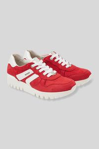 C&A Tom Tailor-Sneaker-Velourslederimitat, Rot, Größe: 42