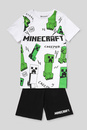 Bild 2 von C&A Minecraft-Shorty-Pyjama-Bio-Baumwolle-2 teilig, Weiß, Größe: 170