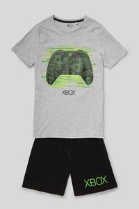 C&A Xbox-Shorty-Pyjama-Bio-Baumwolle-2 teilig, Grau, Größe: 164