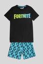 Bild 1 von C&A Fortnite-Shorty-Pyjama-Bio-Baumwolle-2 teilig, Schwarz, Größe: 158