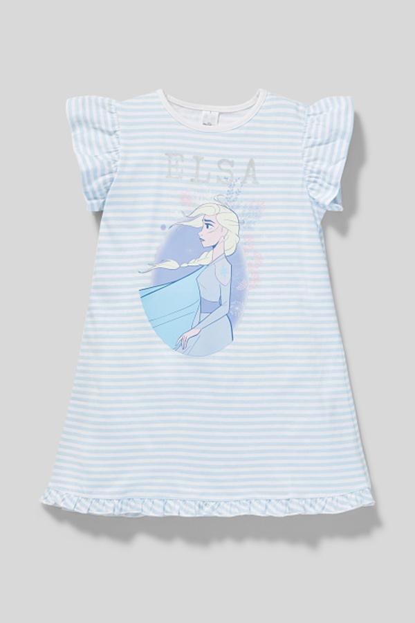 Die Eiskönigin - Nachthemd - Bio-Baumwolle - gestreift