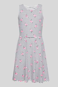 C&A Kleid-Bio-Baumwolle-gestreift, Weiß, Größe: 170