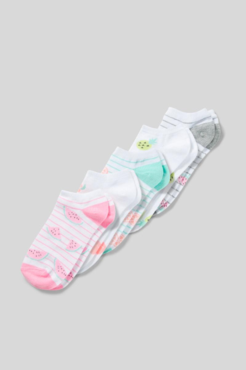 Bild 2 von C&A Sneakersocken-5 Paar, Weiß, Größe: 40-42