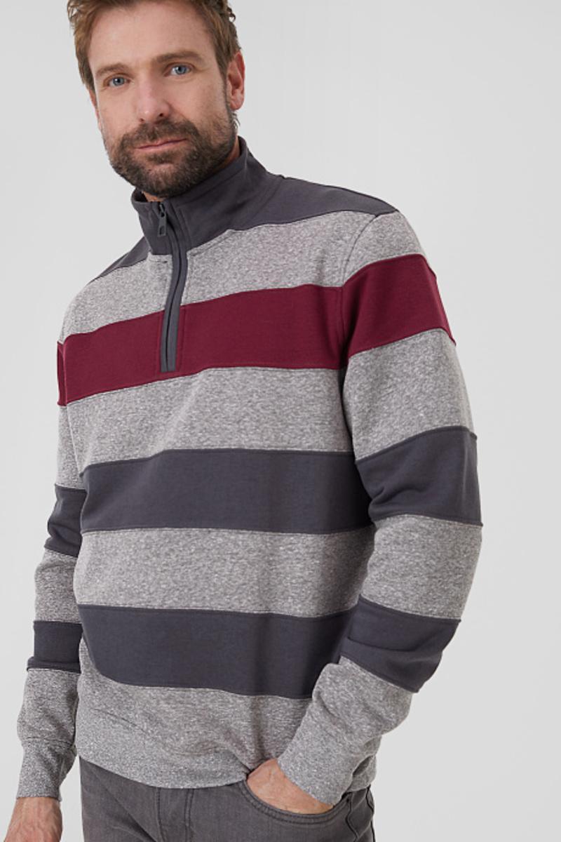 Bild 1 von C&A Sweatshirt-gestreift, Blau, Größe: 3XL