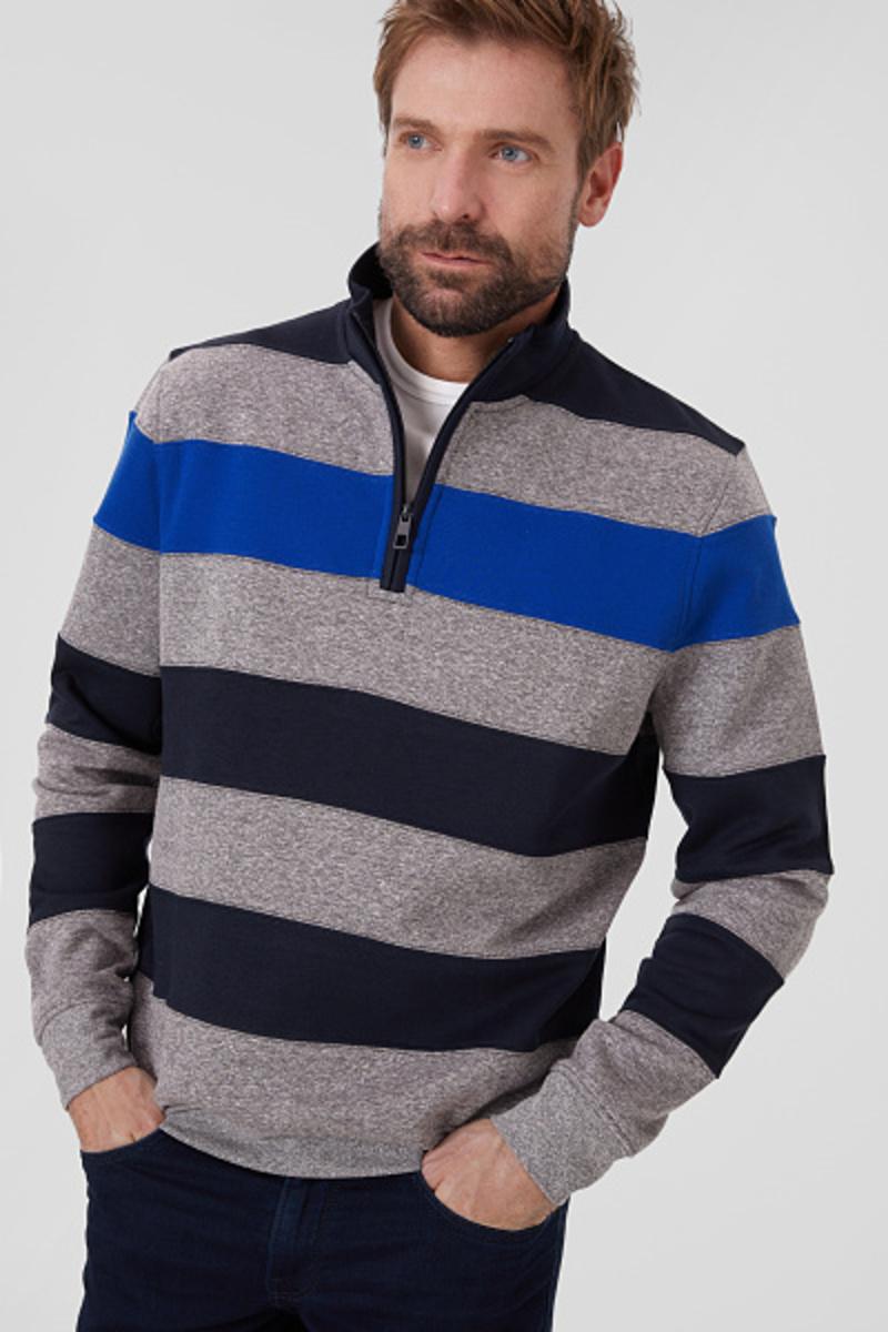 Bild 2 von C&A Sweatshirt-gestreift, Blau, Größe: 3XL