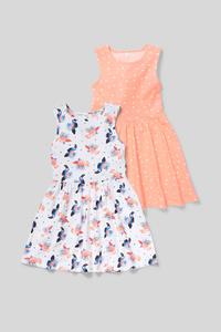 Kleid - Bio-Baumwolle - 2er Pack
