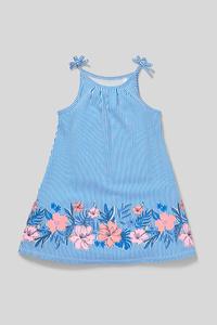 C&A Kleid-Bio-Baumwolle-gestreift, Weiß, Größe: 140