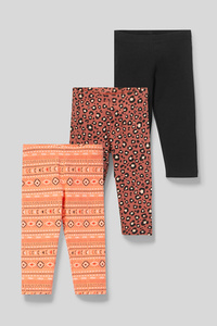 Leggings - Bio-Baumwolle - 3er Pack