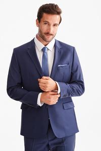 C&A Baukasten-Sakko-Tailored Fit-Woll-Mix, Blau, Größe: 56