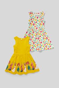 C&A Kleid-Bio-Baumwolle-2er Pack, Gelb, Größe: 134