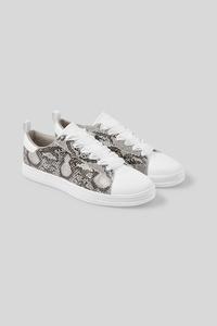 C&A Sneaker-Lederimitat, Grau, Größe: 40