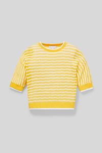 C&A Pullover-gestreift-Glanz-Effekt, Gelb, Größe: 164