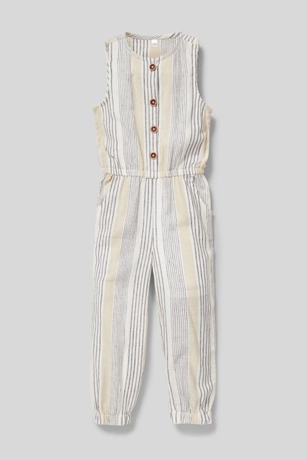C&A Jumpsuit-gestreift, Weiß, Größe: 104