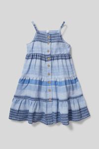 C&A Kleid-Bio-Baumwolle-gestreift, Blau, Größe: 122