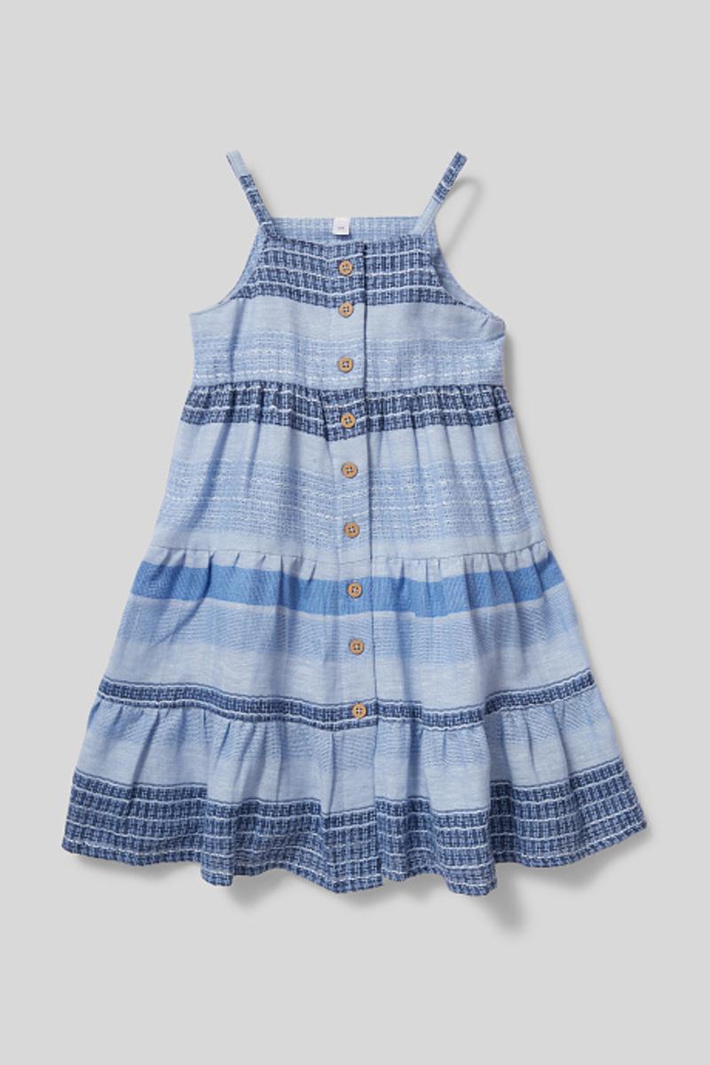Bild 1 von C&A Kleid-Bio-Baumwolle-gestreift, Blau, Größe: 122