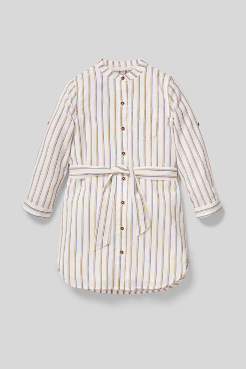 Bild 1 von C&A Kleid-gestreift-Glanz-Effekt, Weiß, Größe: 158