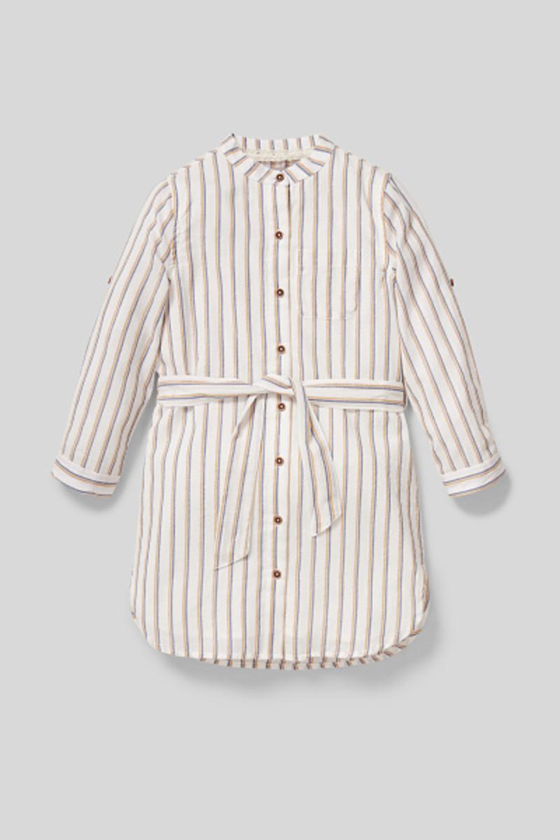 Bild 2 von C&A Kleid-gestreift-Glanz-Effekt, Weiß, Größe: 158